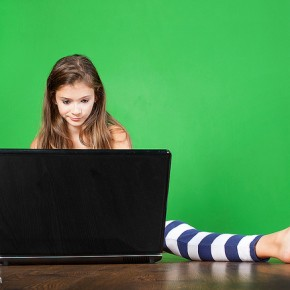 Girl on Laptop 2